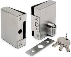 door lock keep for 10mm glass door without glass fabrication
