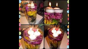 Cheap Floating Tea Light Candles Diy Flower Centerpiece With Floating Tea Lights