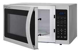 sharp 1 1 cu ft microwave. 0.9 cu. ft. sharp stainless steel carousel microwave (smc0912bs) \u2013 left angle 1 cu ft e