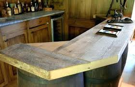 rustic bar counter ideas basement home design decor modern tray