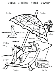 Subtraction Coloring Pages Free Printable Math Coloring Pages For ...