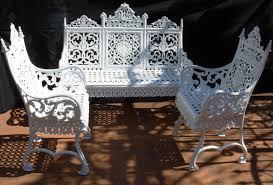 white wrought iron furniture. Cast Iron Garden Furniture White Wrought I