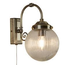 Vintage Wandlampe Fürs Bad Gold Altmessing