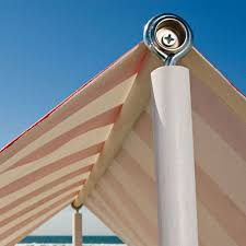 eye hook in top of pole to hold spreader bar on diy sun shades