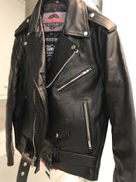 new leather jacket worn maybe two times it in great shape size large asking 125 00 plus 35 00 via paypal pm me for payment details