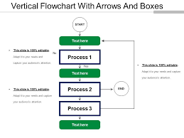 Vertical Flowchart With Arrows And Boxes Powerpoint