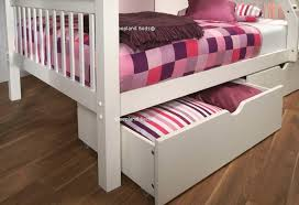 signature pavo white wooden double bunk bed white storage drawers for double bunk beds