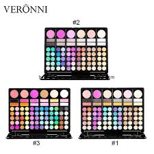 china 78 color eyeshadow palette with blusher contour powder lipgloss fashion eye shadow palette makeup set 3 model make up kit china makeup kit