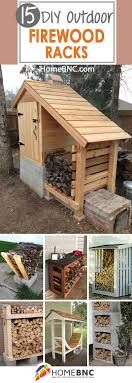 15 fun and creative diy outdoor firewood rack ideas for storage