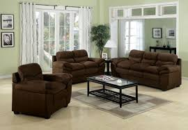Microfiber Living Room Set Standford Easy Rider Microfiber Living Room Set In Chocolate