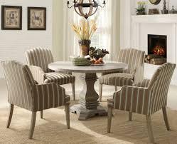 cool round pedestal dining table set on havana espresso