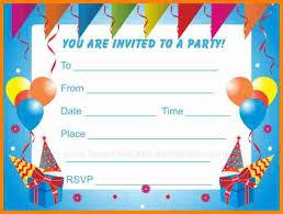 Birthday Invitations Printable Free Printable Birthday Party Invitation Under Fontanacountryinn Com