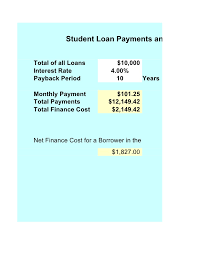 pay back loans calculator student loan calculator