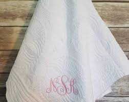 Embroider baby quilt | Etsy & Embroidered Baby Quilt, Personalized Baby Blanket, Baby Shower Present,  Monogrammed Baby Quilt, Adamdwight.com