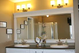 framed bathroom mirrors. How To Upgrade Your Builder Grade Mirror - Frame It! Framed Bathroom Mirrors O