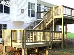 deck corner post railing posts attachment r0