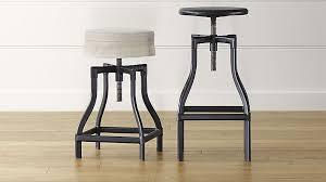 luxury black backless bar stool turner adjule and linen cushion crate barrel dress suit top jumpsuit