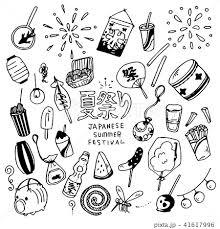 夏祭り Japanese Summer Festival Illustration Packのイラスト素材
