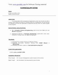 Video Game Tester Resume Sample 46 Inspirational Software Testing