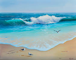 ocean wave oil on canvas 16x20