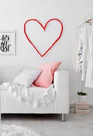 diy string heart wall art for valentine s day