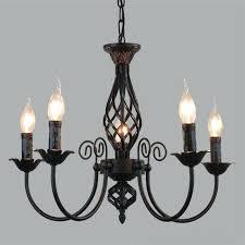 simple black chandelier iron chandelier led lamps simple living room retro black chandeliers suitable led re
