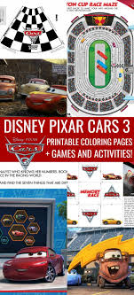 Small Picture Disney Cars Coloring Pages Printable Activities Cars 3 In