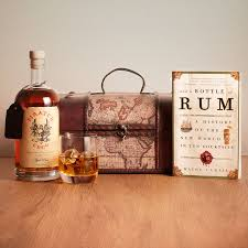 rum gift chest with personalised scroll