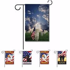 bless america bald eagle custom garden flag thank you usa military service memorial day indoor and outdoor banner not pole in flags