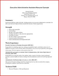 resume administrative assistant objective resume cv cover letter