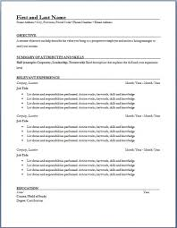 Resume Template Resume Samples Resume Formats