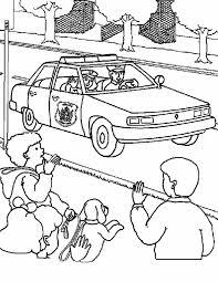 Kleurennu Kinderen Zwaaien Naar Politie Kleurplaten