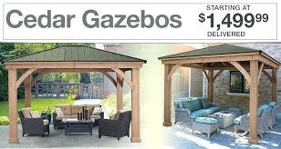 costco outdoor cedar gazebos starting at delivered for outdoor costco outdoor decorations costco outdoor