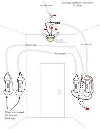 light switch for ceiling fan three way power through fixture ceiling fan light dimmer switch wiring