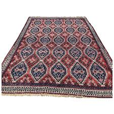 5x6 persian rug hand knotted red blue iran wool antique area rugs woven made oriental carpet