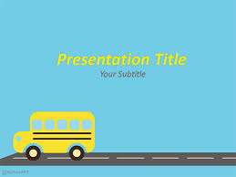 Ppt Background School Free School Bus Powerpoint Template Download Free