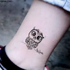 урожай черный сова рука поддельные татуировки сексуальные временные татуировки
