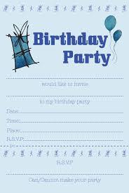 th birthday ideas boy birthday party invitation templates boys blue birthday party invitations size a5 20 invitations per