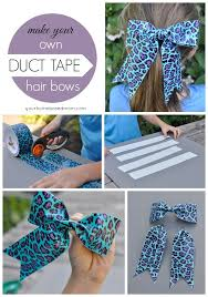 duct tape hair bows collage