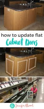 How to add Dimension to Flat Cabinet Doors - a Cabinet Makeover Idea
