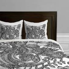 deny designs valentina ramos bird in flowers black white duvet cover twin twin xl