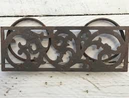 vintage wrought iron plant hanger