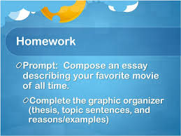 thesis statements and topic sentences effectively beginning an  homework prompt compose an essay describing your favorite movie of all time