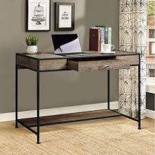 Computer furniture design Quality Home Office Image Unavailable Amazoncom Amazoncom Aingoo Large Writing Desk With Drawer 43x22 Rustic