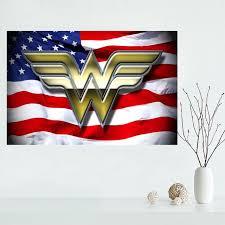 Handcraft Vinyl Record Hanging Wall Clock Wonder Woman Home Decor Wonder Woman Home Decor