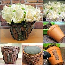 Pot Decoration Designs Plastic Flower Pot Decoration Ideas Home Decorating Ideas 97
