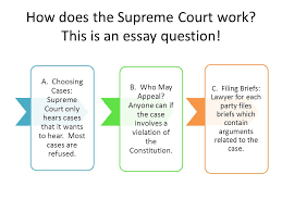 unit structure and functions of the federal government three  how does the supreme court work this is an essay question