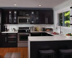 Kitchens With Dark Cabinets And Light Countertops introducing dark