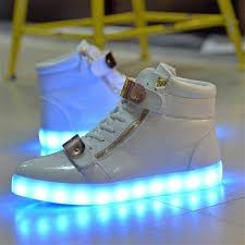 Nike Led Light Up Shoes The White Supreme High Top Frenzy Shoes Come With The
