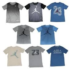 Details About Nike Boys Air Jordan T Shirt Cotton Dri Fit Shirt Size M L Xl New W Tags